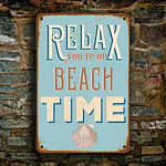 Relax you're on beach time Sign 3