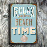 Relax you're on beach time Sign 4