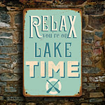 Relax you're on lake time sign 2