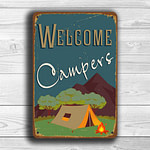 Welcome Campers Sign 1