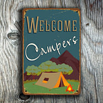 Welcome Campers Sign 3