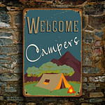 Welcome Campers Sign 4