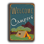 Welcome Campers Sign 5