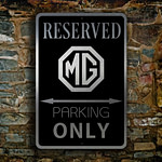 MG Parking Only Sign 2
