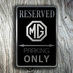 MG Parking Only Sign 3