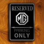 MG Parking Only Sign