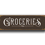 Groceries Sign 1