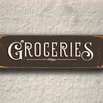 Groceries Sign 3