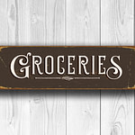 Groceries Sign 4
