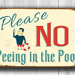 No Peeing in the Pool Sign