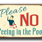 No Peeing in Pool Sign 2