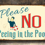 No Peeing in Pool Sign 5