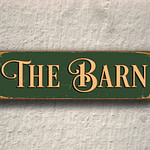 The Barn Sign sign 4