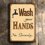 Wash Your Hands Sign 2
