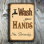 Wash Your Hands Sign 3