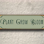 Plant Grow Bloom Sign 2