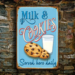 Milk and Cookies Sign 3