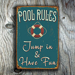 Pool Rules Sign 3