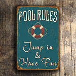 Pool Rules Sign 4