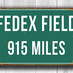Fedex Field Distance Sign