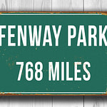 Fenway Park Stadium Sign