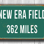 New Era Field Distance Sign