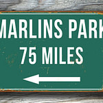 Personalized-Marlins-Park-Distance-Sign-1
