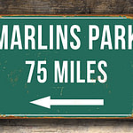 Personalized-Marlins-Park-Distance-Sign-3