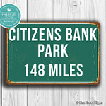 Citizens Bank Park Distance Sign