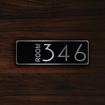 CUSTOM HOTEL ROOM Door Number Sign