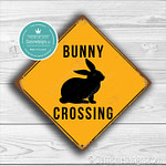 Classic Metal Signs – Bunny Crossing Sign 1