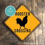 Classic Metal Signs Rooster Crossing Sign 1