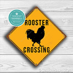 Classic Metal Signs Rooster Crossing Sign 2