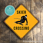 Classic Metal Signs – Skier Crossing Sign 1
