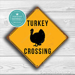 Classic Metal Signs – Turkey Crossing Sign 1