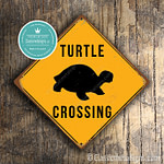 Classic Metal Signs Turtle Crossing Sign 2