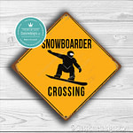 Classic Metal signs – Snowboarder Crossing Sign 1