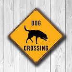 Dog Crossing Sign 3