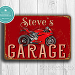 Classic Metal Signs Ducati Garage Sign 1