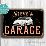 Classic Metal Signs Fiat 500 Garage Sign 1