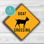 Classic Metal Signs Goat Crossing Sign 1