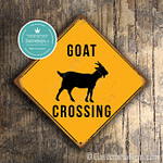 Classic Metal Signs Goat Crossing Sign 2