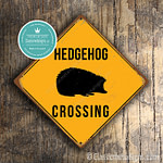 Classic Metal Signs Hedgehog Crossing Sign 1