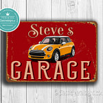 Personalized Mini Cooper Garage Sign