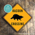 Classic Metal Signs Racoon Crossing Sign 2