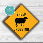 Classic Metal Signs Sheep Crossing Sign 1