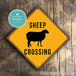 Classic Metal Signs Sheep Crossing Sign 2
