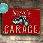 Personalized Triumph Garage Sign