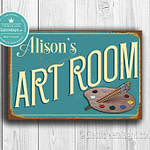 Personalized Art Room Sign