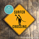 Surfer Crossing Sign 1